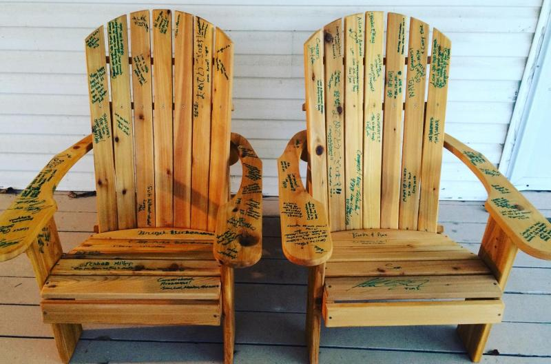 Click to enlarge image  - Adirondack Chair Wedding Guest Book - A Clever Keepsake for Wedding Memories!