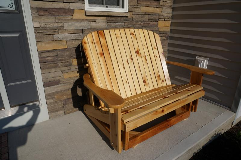 Click to enlarge image  - Loveseat Glider on the porch. -