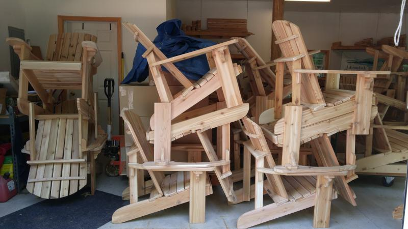 Click to enlarge image  - A Shop Full of Chairs - This order is almost ready to go out.