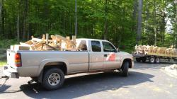 Click to enlarge image  - Ryan Landscapes picking up their order. -
