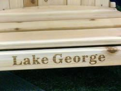 Click to enlarge image  - Lake George Adirondack Chair - High-quality Custom Laser Engraving