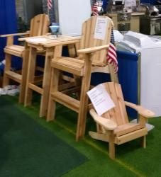 Click to enlarge image This High Top set is a popular choice as is the Junior Chair for kids. - Come Visit Our Booth at Any of the Shows we Attend! -