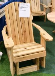 Click to enlarge image Adirondack Glider - Glide your day away
