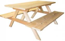 Click to enlarge image Picnic Table - 8 foot A-Frame style -