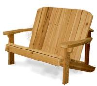 Click to enlarge image Adirondack Buddy Bench - Cute, cozy childrens bench